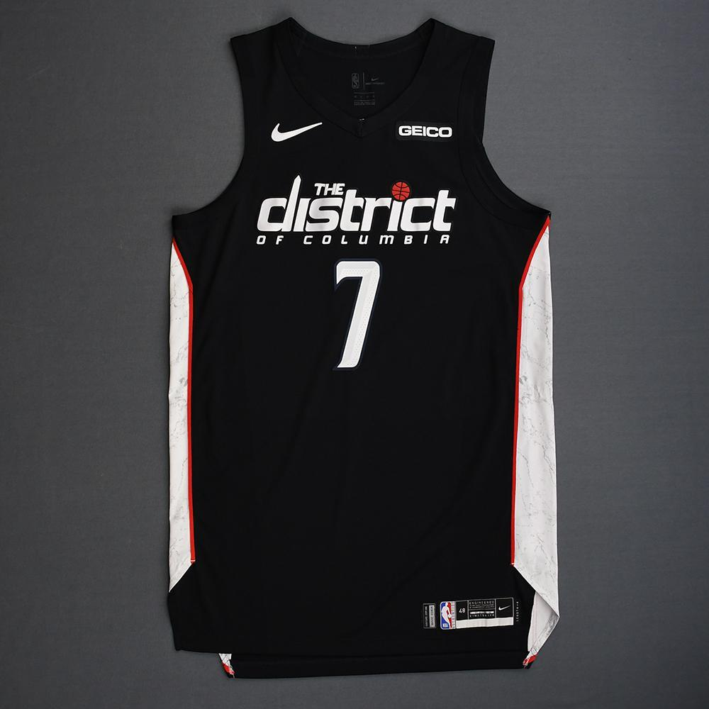 Devin Robinson - Washington Wizards - 2018-19 Season - Game-Issued Black City Edition Jersey