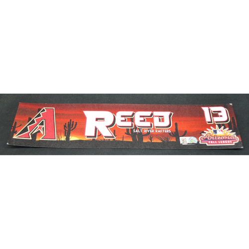 Photo of Arizona Fall League - Game-Used Locker Tag - Cody Reed (ARI), Jersey Number: 13
