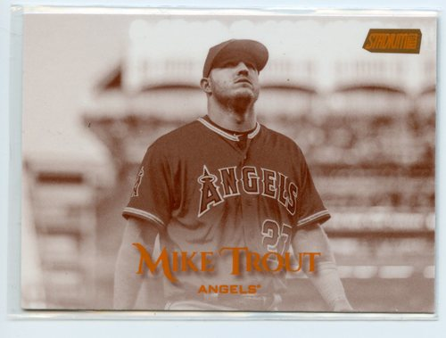 Photo of 2019 Stadium Club Sepia #60 Mike Trout