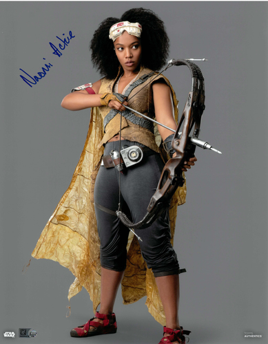 Naomi Ackie As Jannah 11x14 AUTOGRAPHED IN 'Blue' INK PHOTO