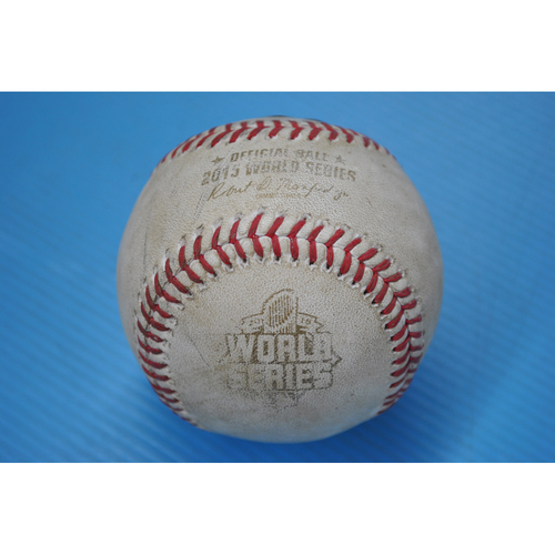 Photo of Game-Used Baseball - 2015 World Series - Game 2 - Pitcher: Johnny Ceueto, Batter: Michael Conforto - Foul Ball - 3rd Inning