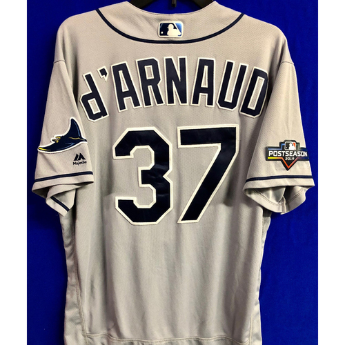 Photo of Team Issued Postseason Road Gray Jersey: Travis d'Arnaud - 2019
