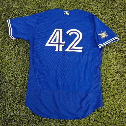 Photo of CHARITY AUCTION: Authenticated Team Issued #42 Jersey: Matt Shoemaker (2020 Season). Size 48.