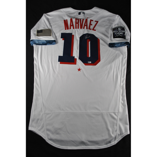 Photo of Omar Narvaez 2021 Major League Baseball All-Star Game Autographed Jersey