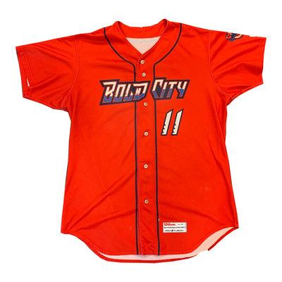 Game Worn Red Bold City Jersey Edward Cabrera #27 Size 48