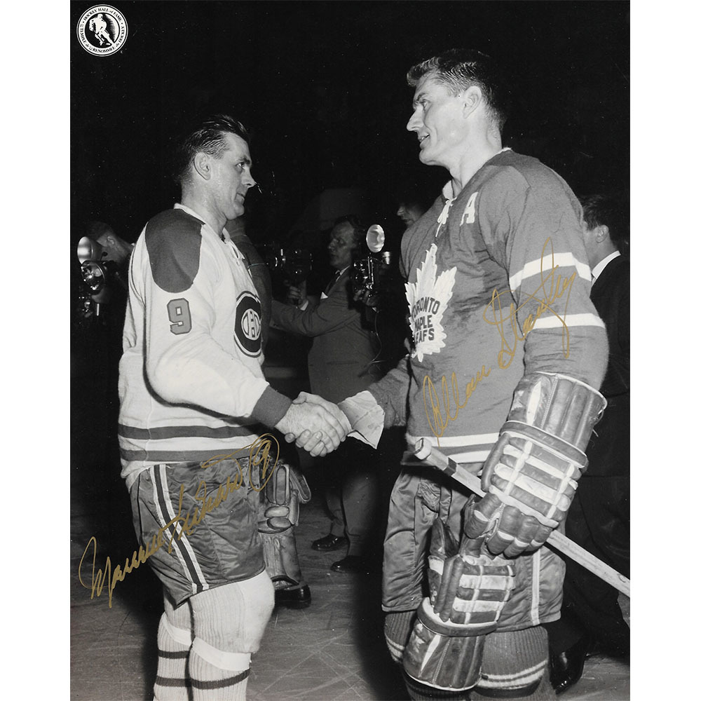 Maurice Richard & Allan Stanley Autographed Dual-Signed 8X10 Photo