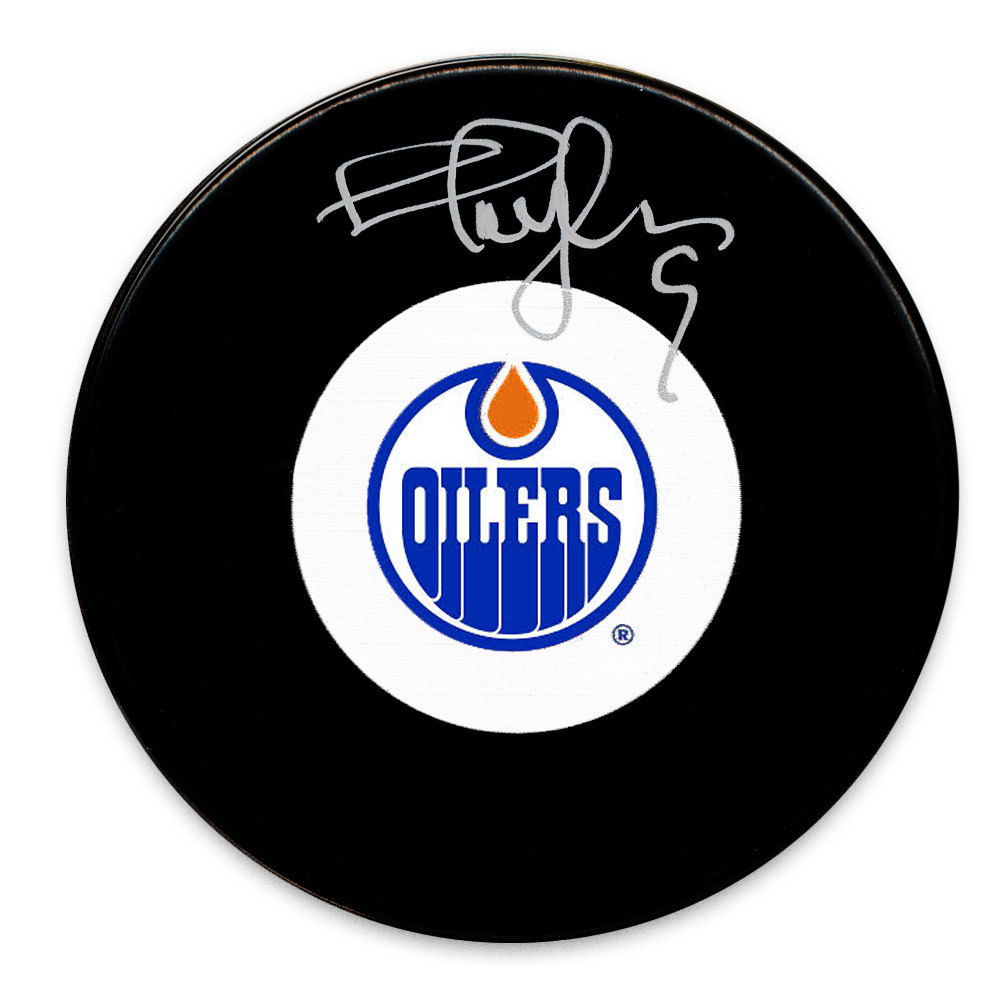 Shayne Corson Edmonton Oilers Autographed Puck