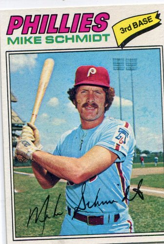 Photo of 1977 Topps #140 Mike Schmidt -- Hall of Famer