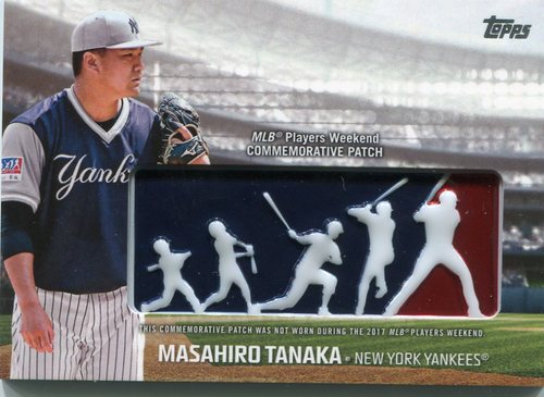 Photo of 2018 Topps Players Weekend Patches #PWPMA Masahiro Tanaka