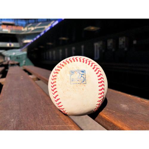 Photo of Colorado Rockies Game-Used Baseball - Davis v. Rosario - Single to Arenado - June 19, 2018