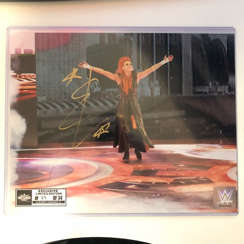 Photo of Becky Lynch SIGNED 8 x 10 Limited Edition WrestleMania Photo (Random Number)