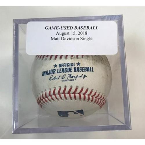Photo of Game-Used Baseball: Matt Davidson Single
