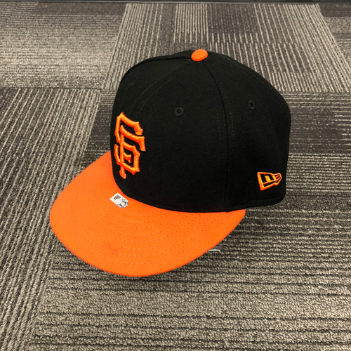 San Francisco Giants - 2018 Orange Bill Team Issued Cap - #9 Brandon Belt - Size 7 1/8