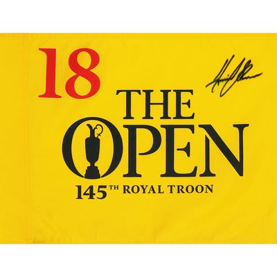 Photo of Henrik Stenson, The 145th Open Royal Troon Autographed Souvenir Pin Flag