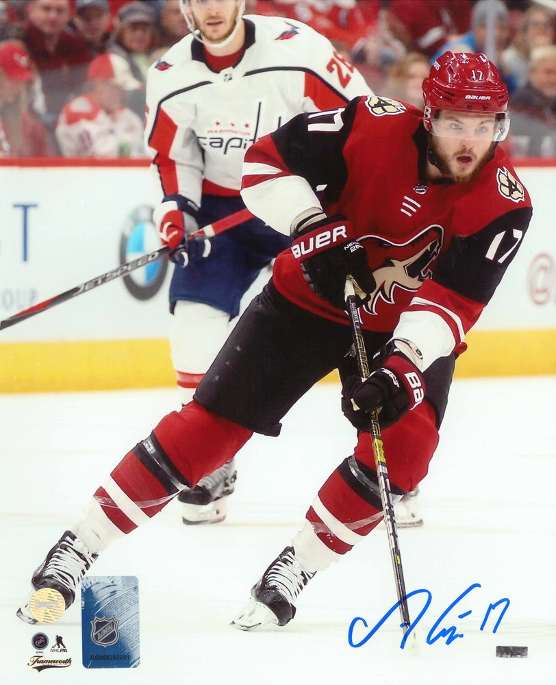 Alex Galchenyuk Signed 8x10 Unframed Coyotes Red vs Capitals