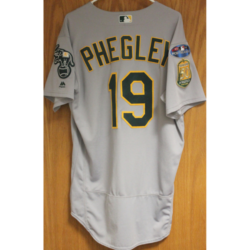 Photo of Game-Used Josh Phegley 2018 Jersey