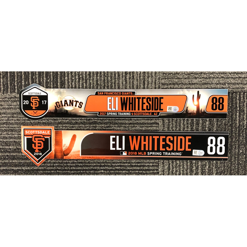 Photo of 2018 & 2017 Spring Training Locker Tag Bundle - #88 Eli Whiteside