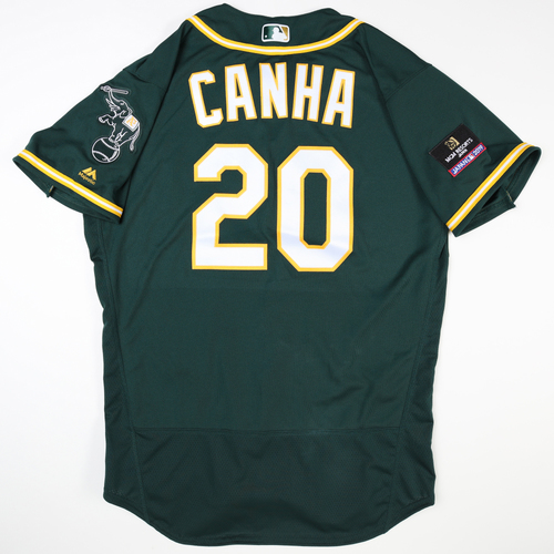 Photo of 2019 Japan Opening Day Series - Game Used Jersey - Mark Canha, Oakland Athletics at Nippon Ham Fighters -3/17/2019
