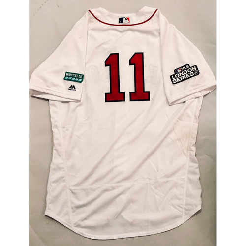 Photo of 2019 London Series - Game-Used Jersey - Rafael Devers, New York Yankees vs Boston Red Sox - 6/29/19