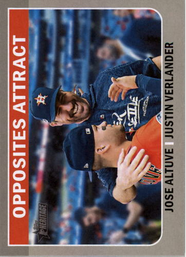 Photo of 2019 Topps Heritage Combo Cards #CC6 Justin Verlander/Jose Altuve