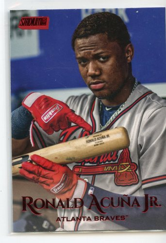 Photo of 2019 Stadium Club Red Foil #56 Ronald Acuna Jr.