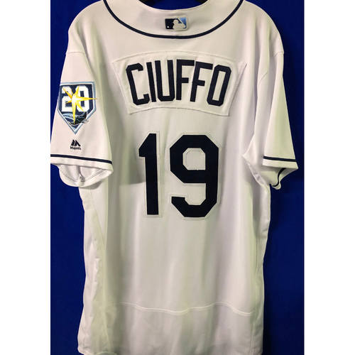 Photo of 20th Anniversary Game Used Jersey: Nick Ciuffo (5 Games) - First MLB Season