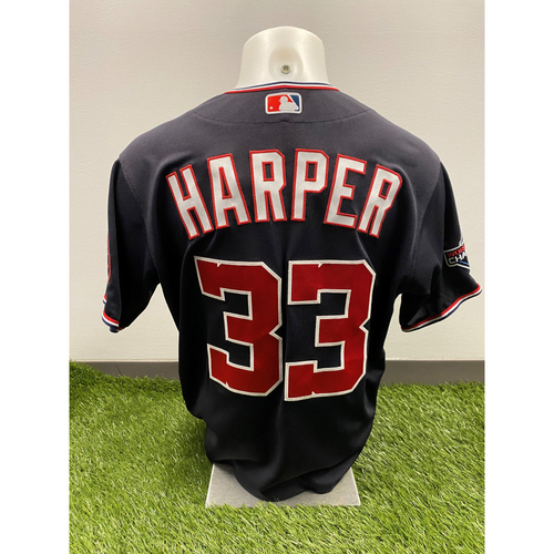 Photo of Ryne Harper 2020 Game-Used World Series Champions Navy Script Jersey