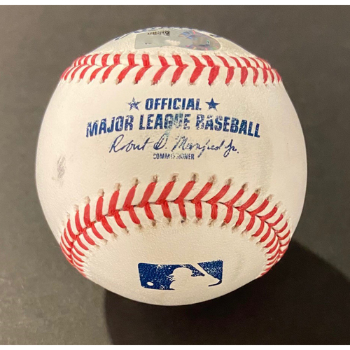 Photo of Game-Used Baseball: Batter: Kyle Seager (Home Run), Pitcher:  Clayton Kershaw - Bottom 4th (LAD @ SEA - 8/20/2020)