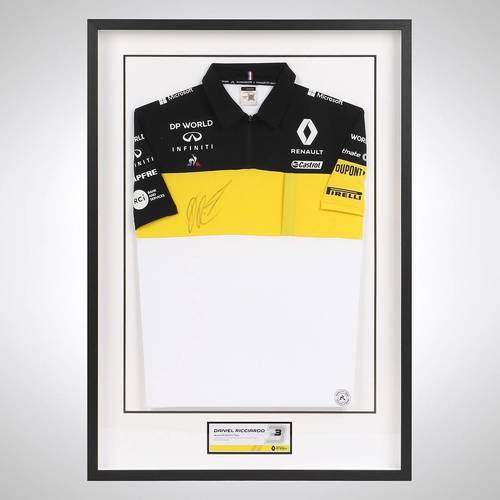 Photo of Daniel Ricciardo 2020 Signed Framed Polo Shirt
