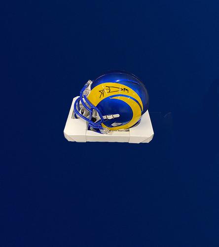 Aaron Donald Signed Mini Helmet