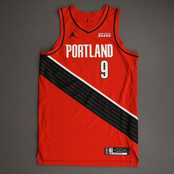 Image of Nassir Little - Portland Trail Blazers - Game-Worn Statement Edition Jersey - Dressed, Did Not Play (DNP) - 2021 NBA Playoffs
