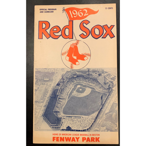 Photo of Detroit Tigers at Boston Red Sox April 21, 1962 Official Program and Scorecard