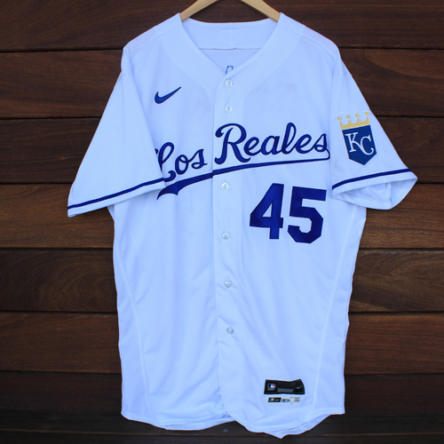 Photo of Game-Used Los Reales Jersey: Kyle Zimmer #45 (SEA@KC 9/17/21) - Size 46