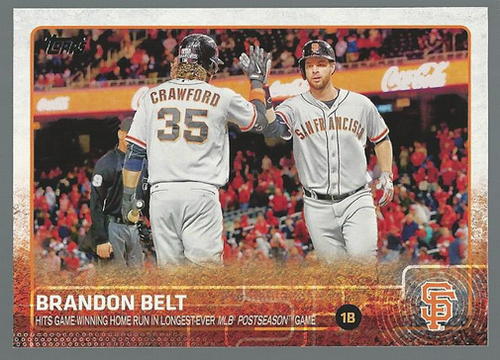 Photo of 2015 Topps #29 Brandon Belt BH
