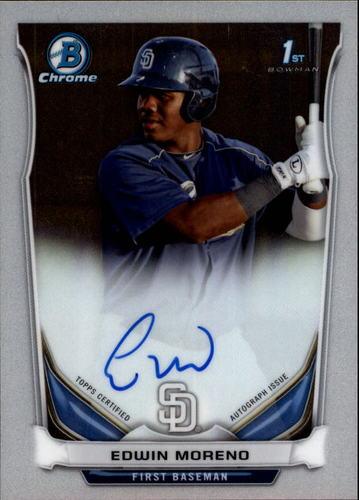 Photo of 2014 Bowman Chrome Prospect Autographs #BCAPEM Edwin Moreno