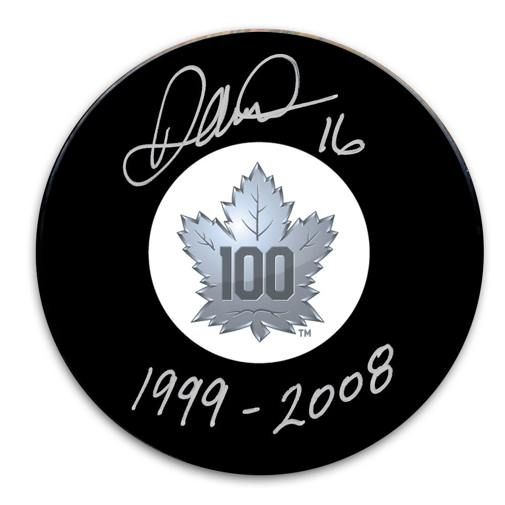 Darcy Tucker Toronto Maple Leafs 100th Anniversary Autographed Puck