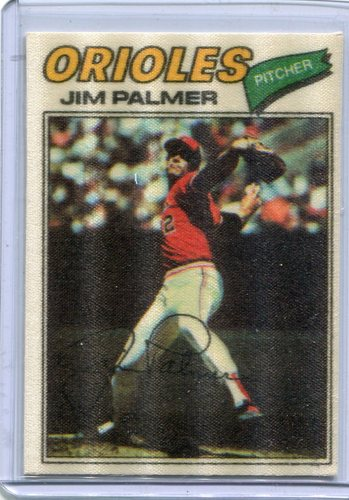 Photo of 1977 Topps Cloth Stickers #36 Jim Palmer