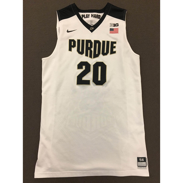 Photo of A.J. Hammons #20 Purdue Men's Basketball 2015-16 White Jersey
