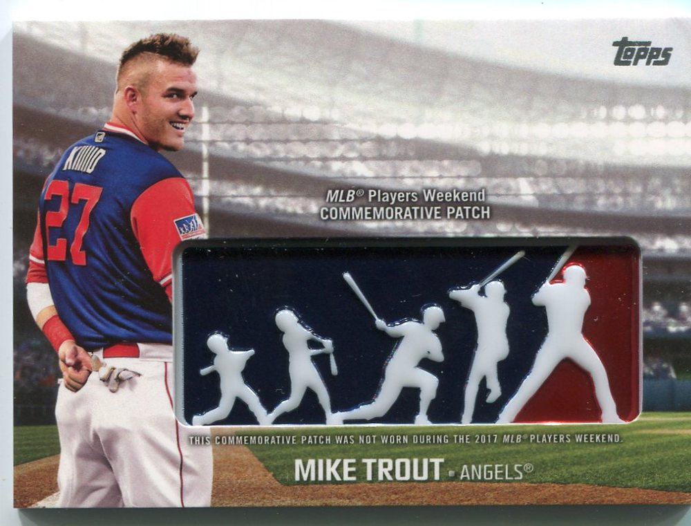 2018 Topps Players Weekend Patches #PWPMT Mike Trout