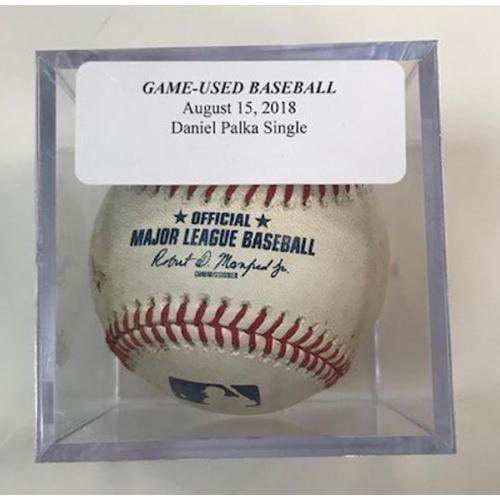 Photo of Game-Used Baseball: Daniel Palka Single