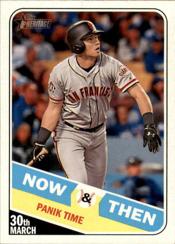 Photo of 2018 Topps Heritage Now and Then #NT3 Joe Panik