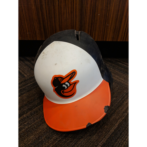 Photo of Trey Mancini - Home Batting Helmet: Team-Issued