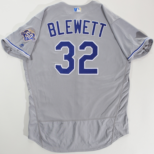 Photo of 2018 Arizona Fall League Game-Used Jersey - Scott Blewett -Size 50
