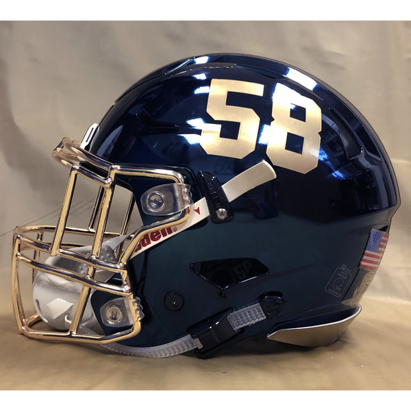 Photo of #58 Game Worn  Fear the Goat Army/Navy Game Football Helmet