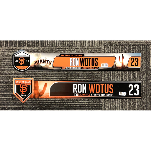 Photo of 2018 & 2017 Spring Training Locker Tag Bundle - #23 Ron Wotus