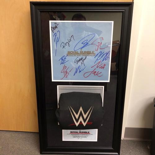 Royal Rumble 2018 SIGNED Used Ring Canvas & Used Turnbuckle Commemorative Plaque