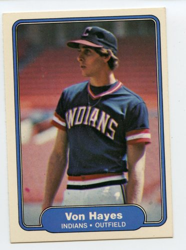 Photo of 1982 Fleer #371 Von Hayes RC