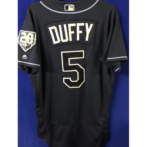 Photo of 20th Anniversary Game Used Jersey: Matt Duffy - September 29, 2018 v TOR