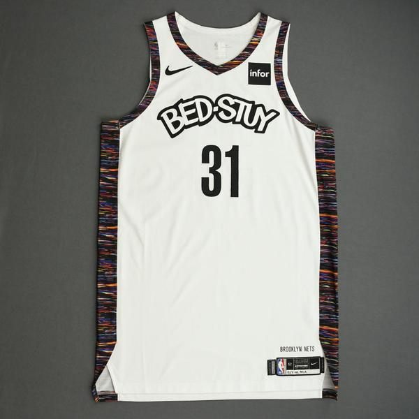 Image of Jarrett Allen - Brooklyn Nets - Game-Worn City Edition Jersey - 2019-20 NBA Season