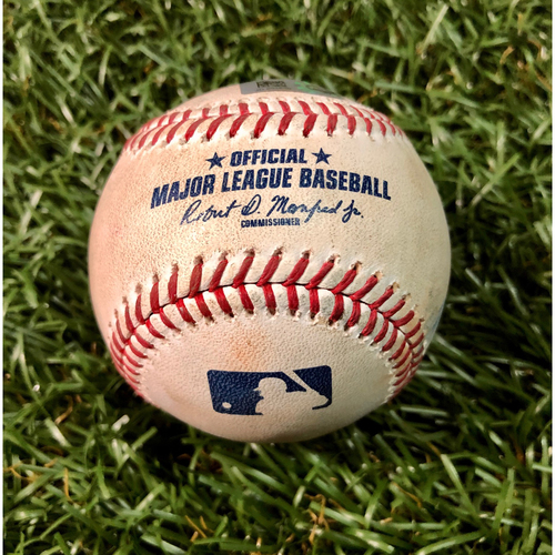 Photo of Game Used Baseball: Austin Meadows single off Jason Adam - August 6, 2019 v TOR